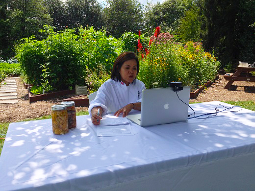 White House Executive Chef Cris Comerford took Maker Camp campers on a virtual field trip of the White House Kitchen Garden