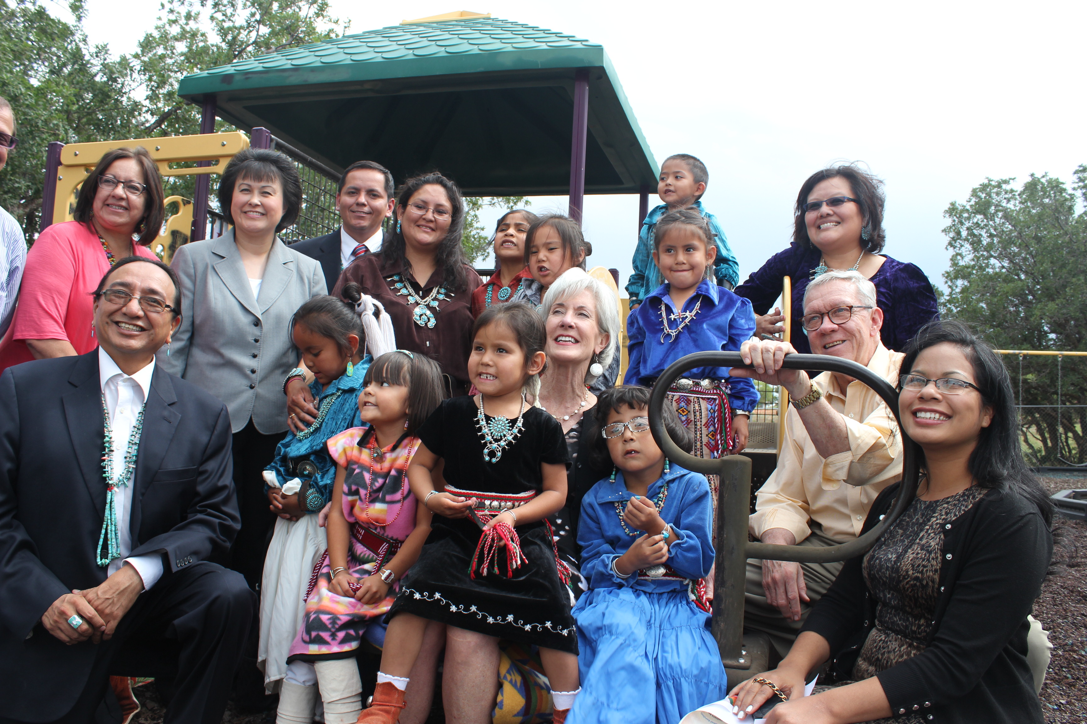 HHS Sebelius Sawmill Headstart with Children