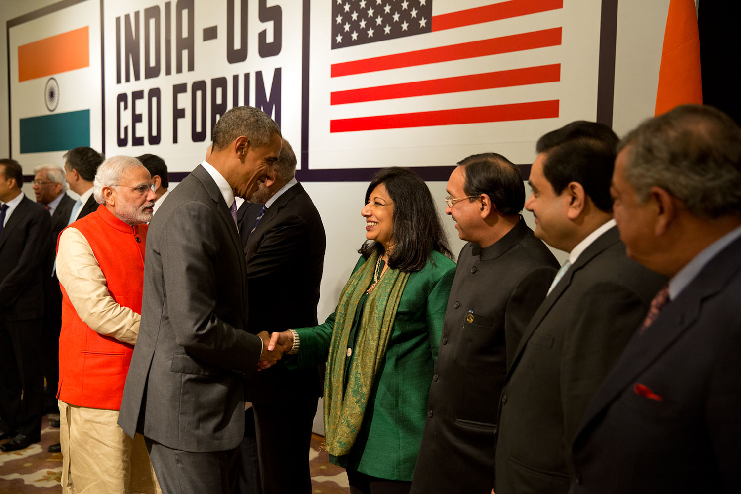President Obama Greets India Business Leaders