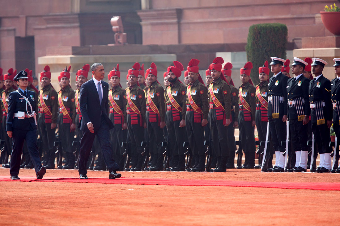 President Obama's Ceremonial Welcome in India