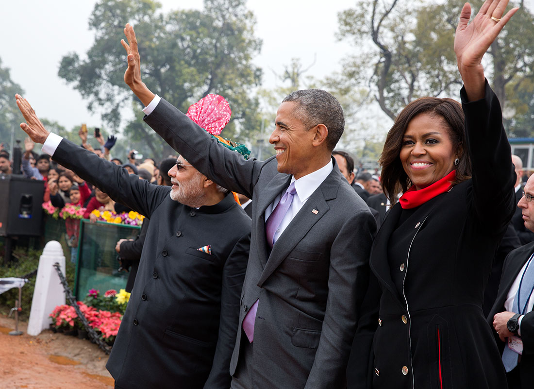 President Obama and the First Lady in India