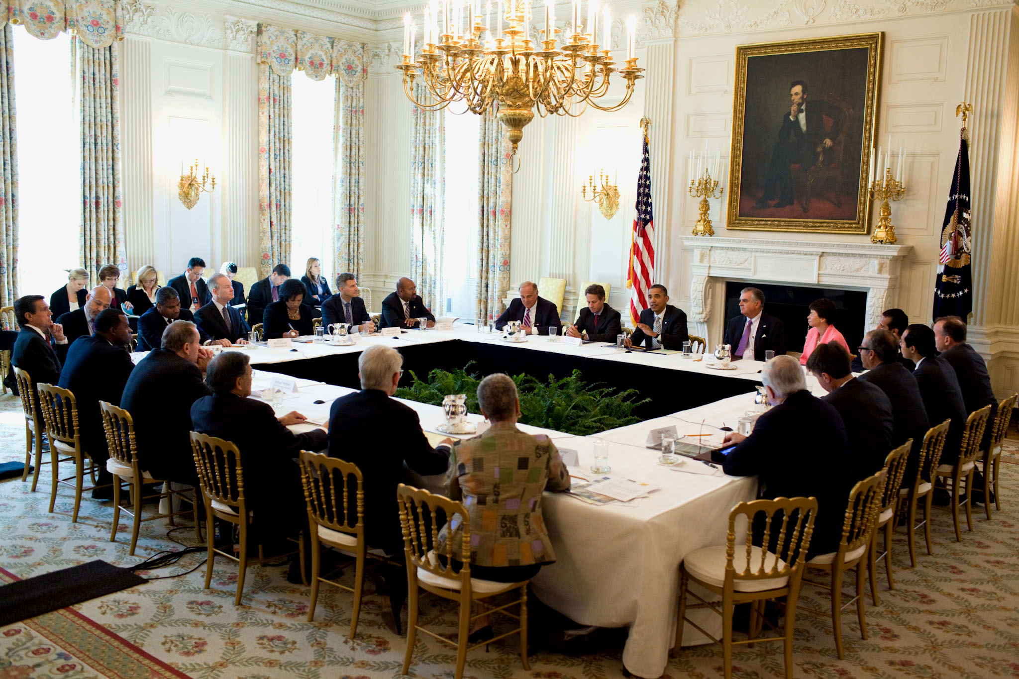 President Obama Holds a Meeting on Infrastructure