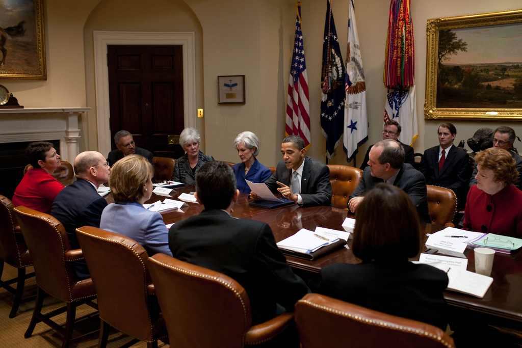 The President and HHS Secretary Sebelius Meet with Insurance Leaders on Rate Hikes