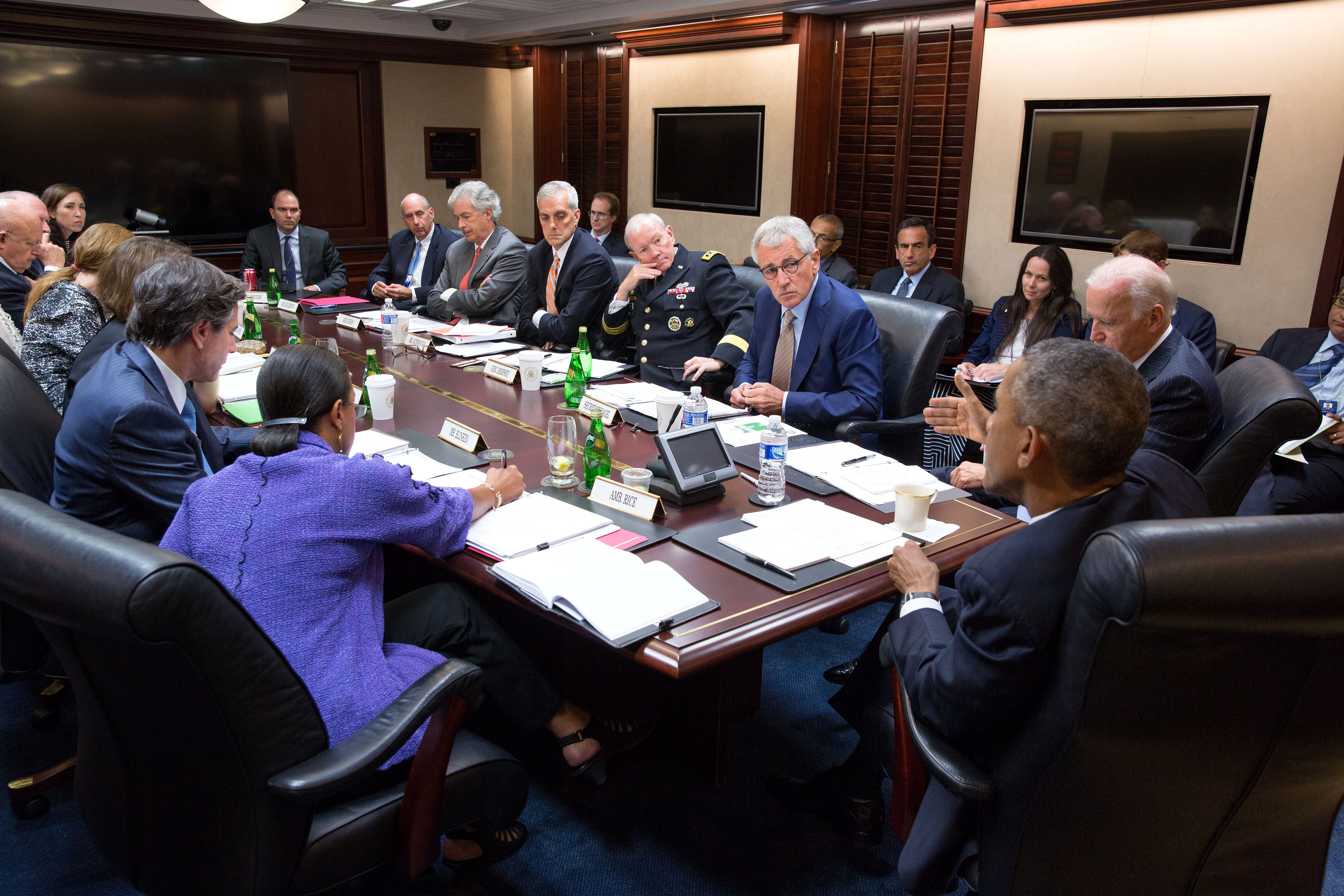 President Obama and Vice President Biden Meet with National Security Council to Discuss ISIL
