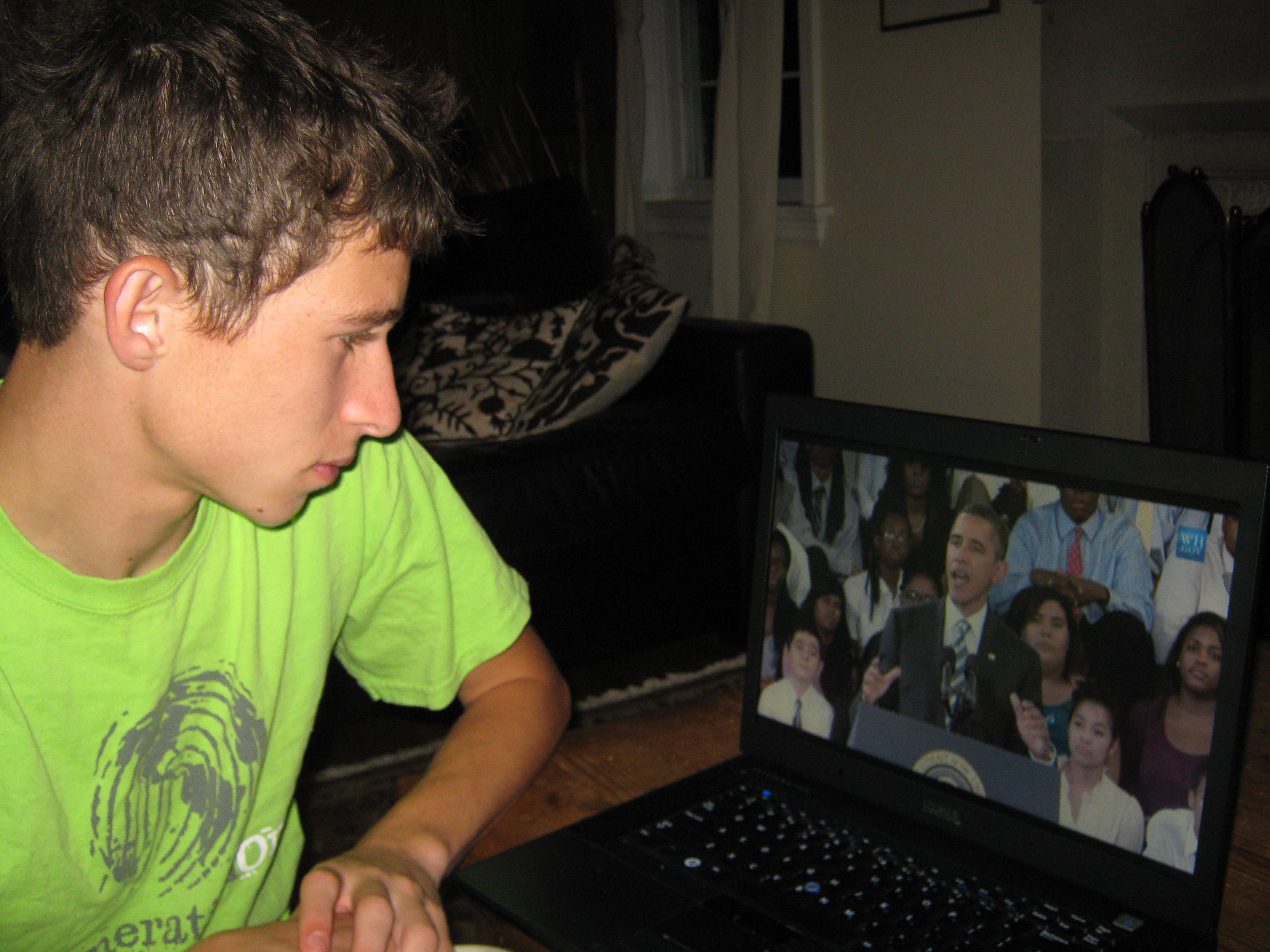 Jacob Bernstein Watches President Obama Give His Back-to-School Speech