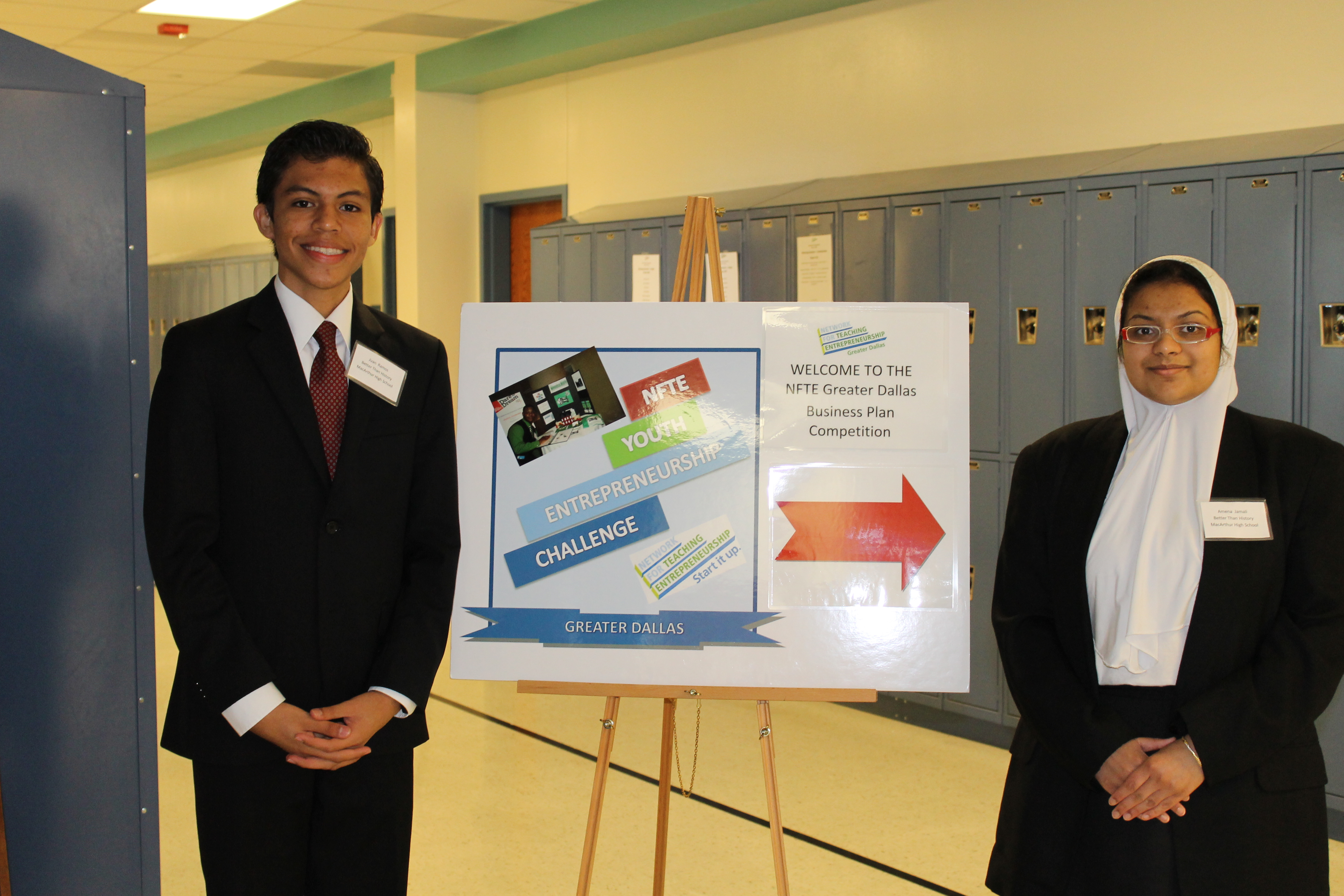 OSTP Science Fair Amena & Juan