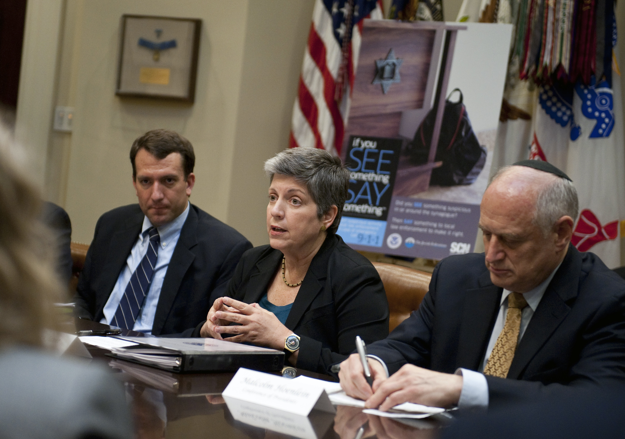 Janet Napolitano at Meeting with Jewish Leaders