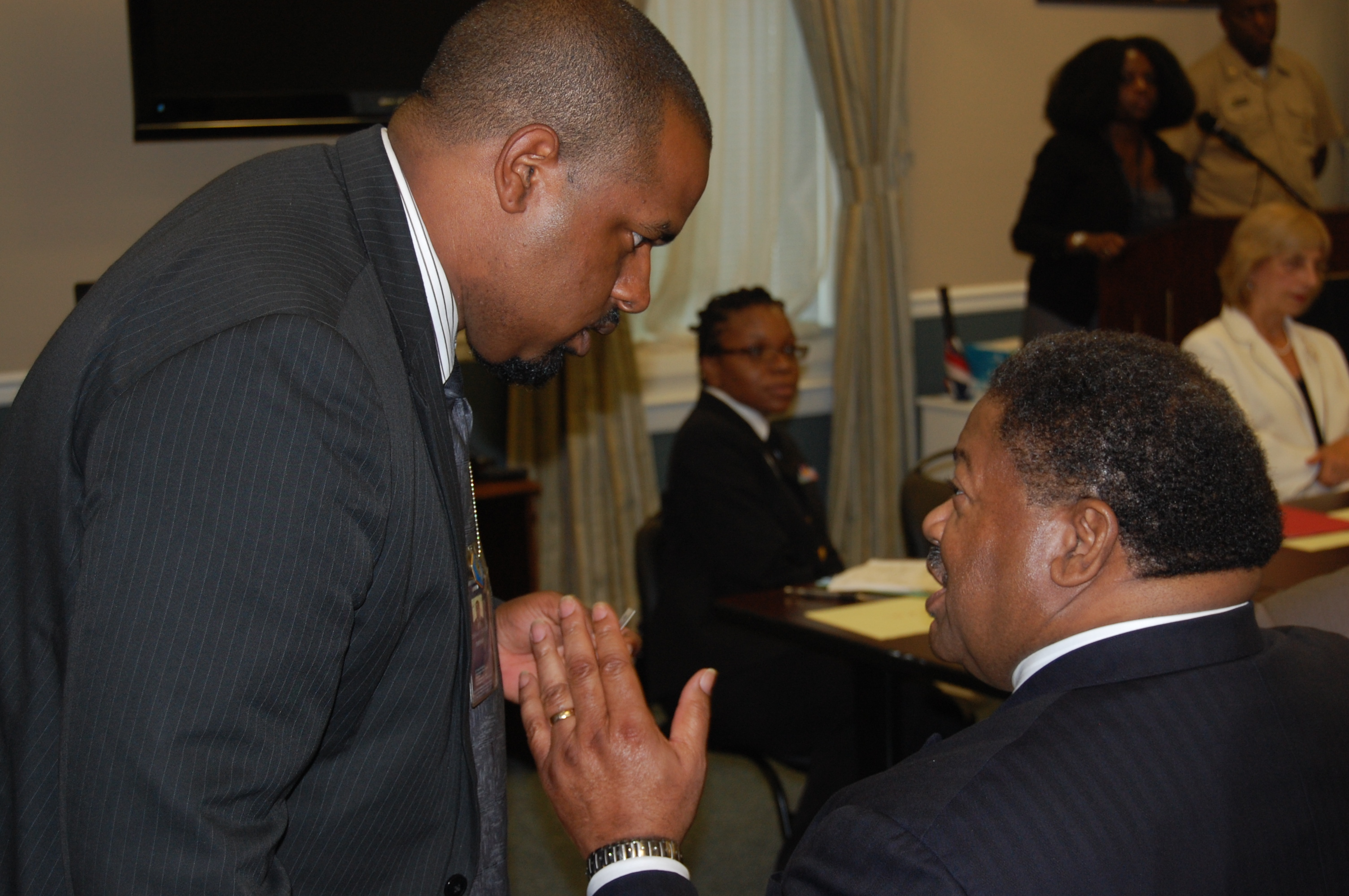 Dr. George W. Waddles and Joshua DuBois at Sickle Cell Roundtable