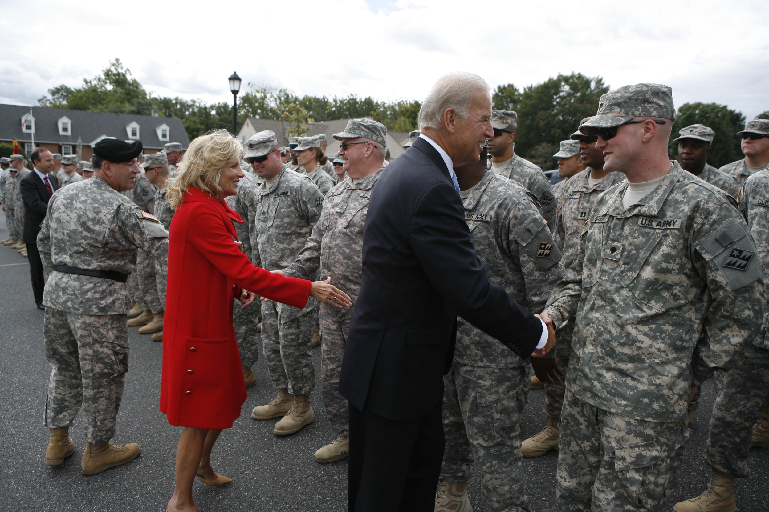 Vice President Biden and Dr. Jill Biden With Troops