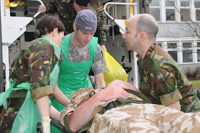 Soldiers of U.S. Army Europe's 67th Forward Surgical Team