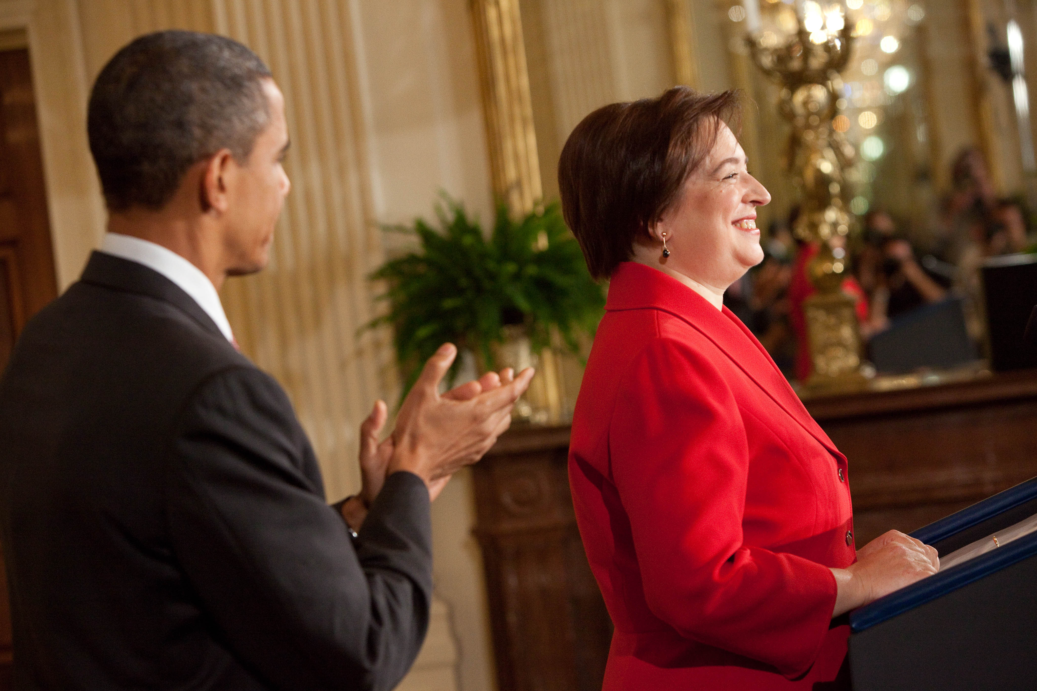 Elena Kagan Speaks at Reception for Her Confirmation