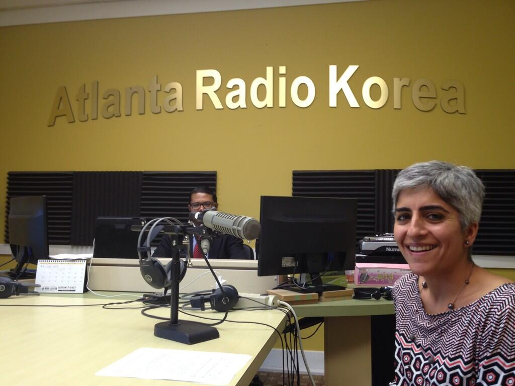 Kiran Ahuja chats on-air with Atlanta Radio Korea host Kevin Kim