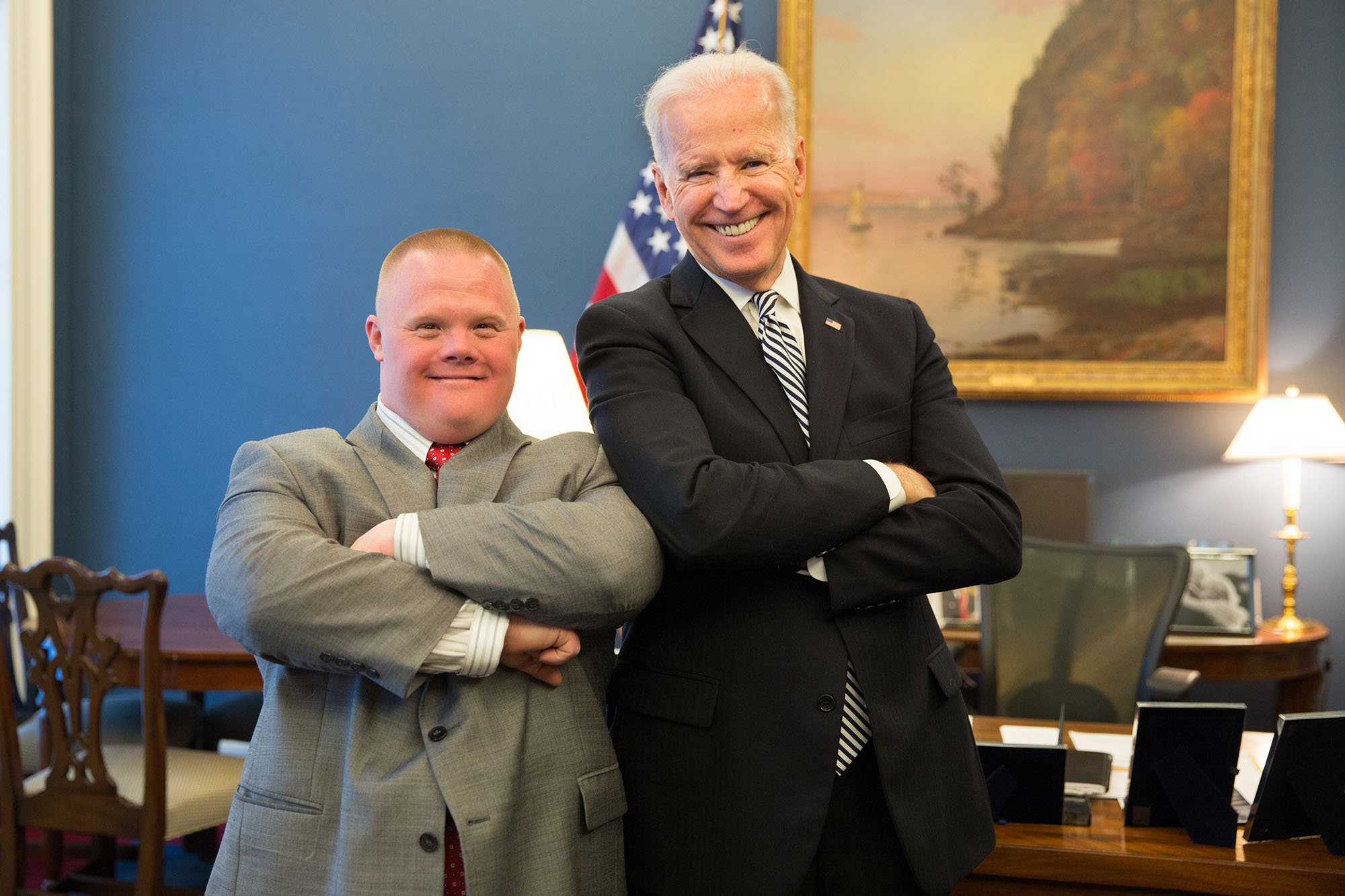 Vice President Joe Biden with Jonathan Stoklosa
