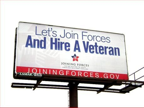 Hire a Veteran Sign from Lamar Advertising