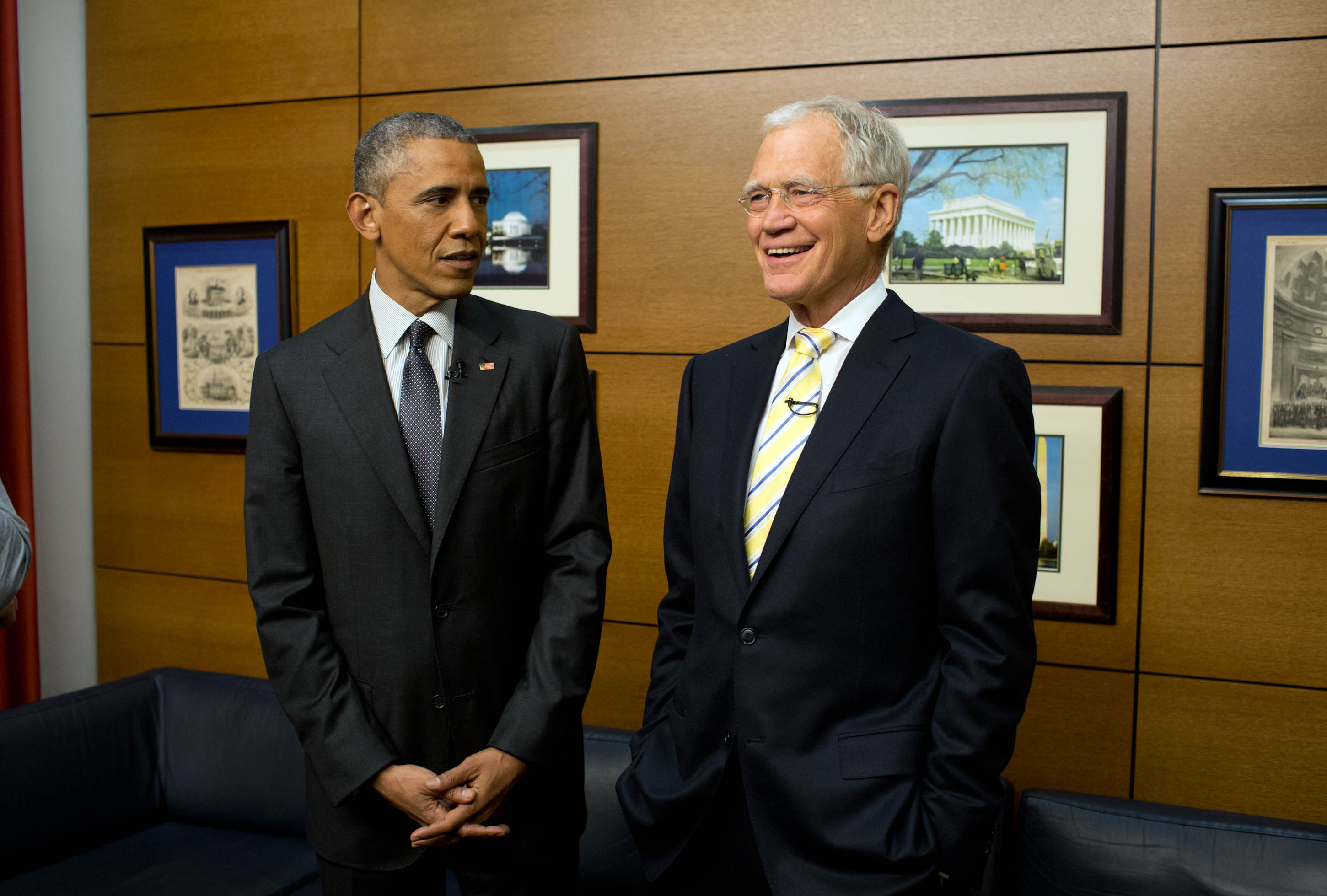 President Obama Chats with Letterman 2015