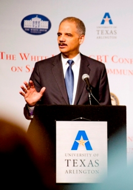 Eric Holder at the White House LGBT Conference on Safe Schools and Communities