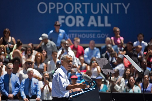 President Barack Obama delivers remarks at Los Angeles Trade and Technical College