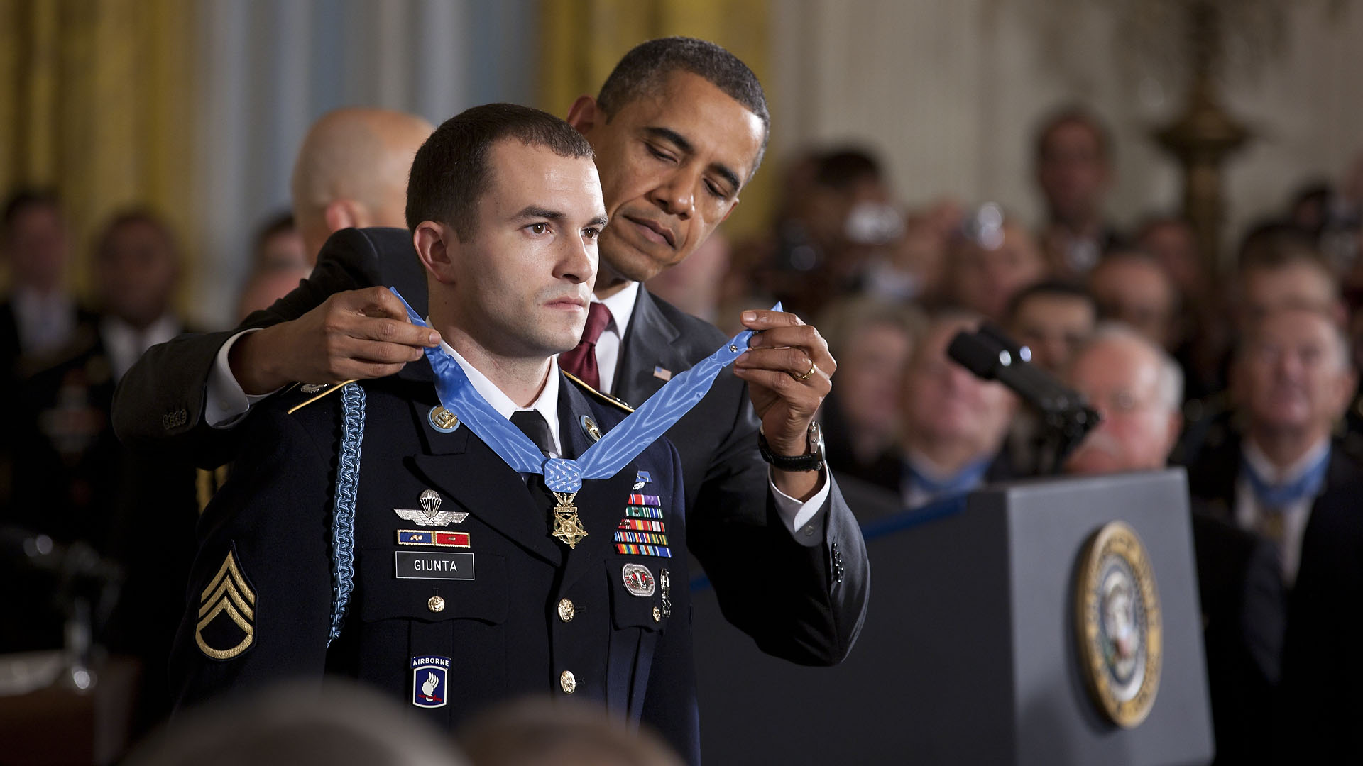 President Barack Obama Presents the Medal of Honor to Staff Sergeant Salvatore Giunta
