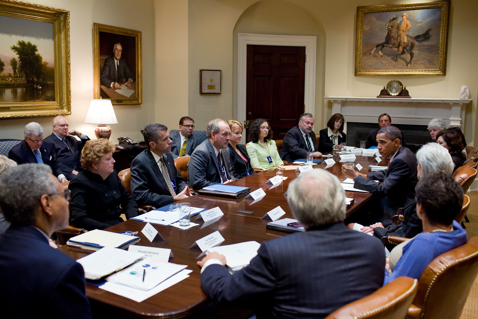 President Obama Meets with Health Insurers and State Insurance Commissioners