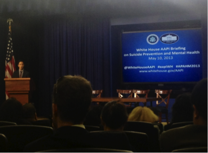 WHIAAPI and the White House Office of Public Engagement host a Briefing on Suicide Prevention and Mental Health, May 10, 2013.