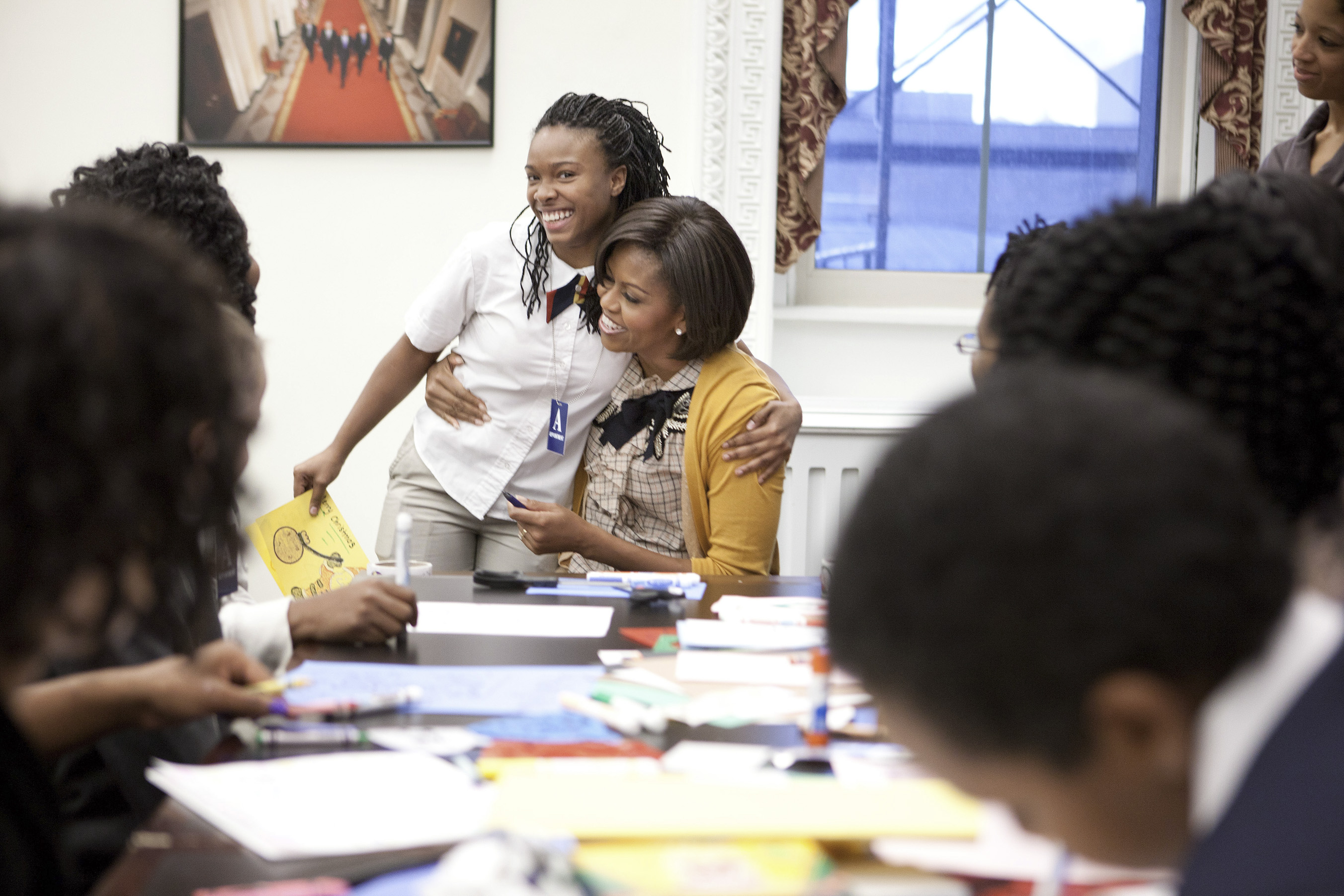 First Lady Michelle Obama at Girls Mentoring event
