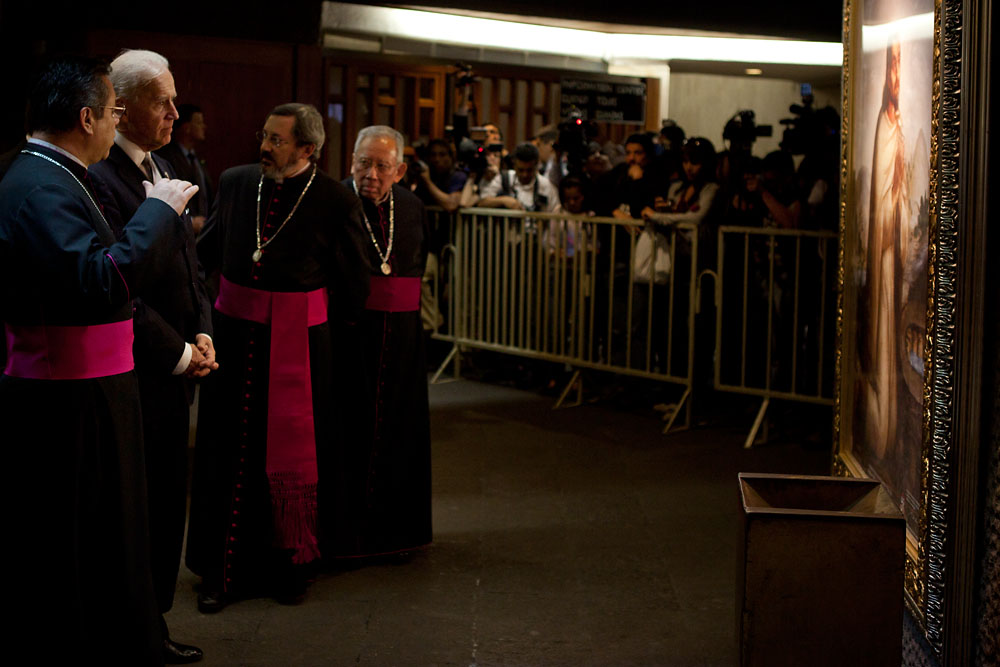 Vice President Biden with Clergy at the Basilica of Our Lady Guadalupe in Mexico City