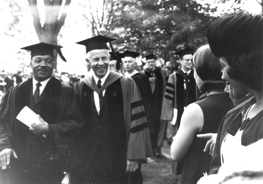 Martin Luther King, Jr. and Robert Carr at Oberlin
