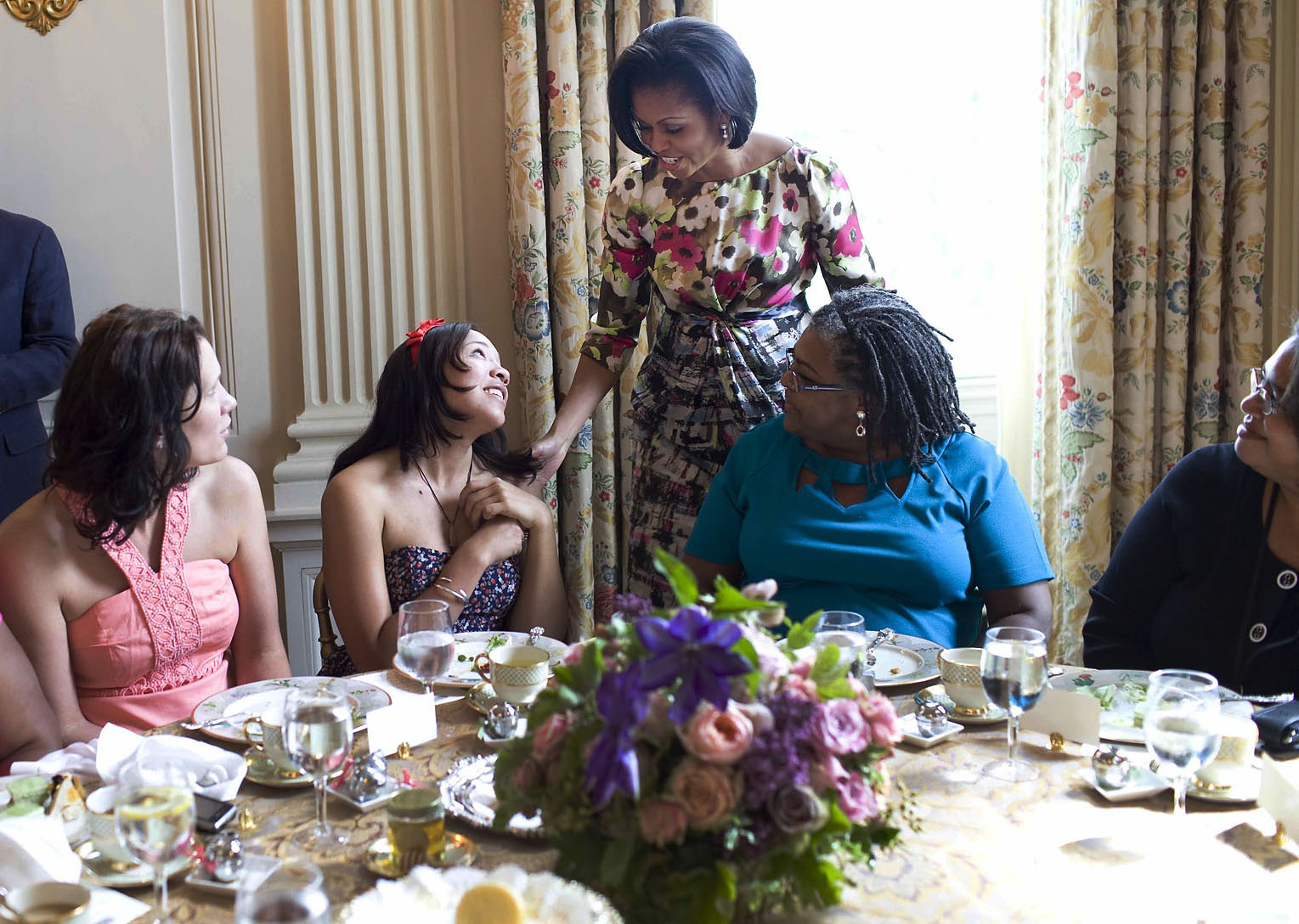 The First Lady Greets Mentees at the Mother's Day Tea