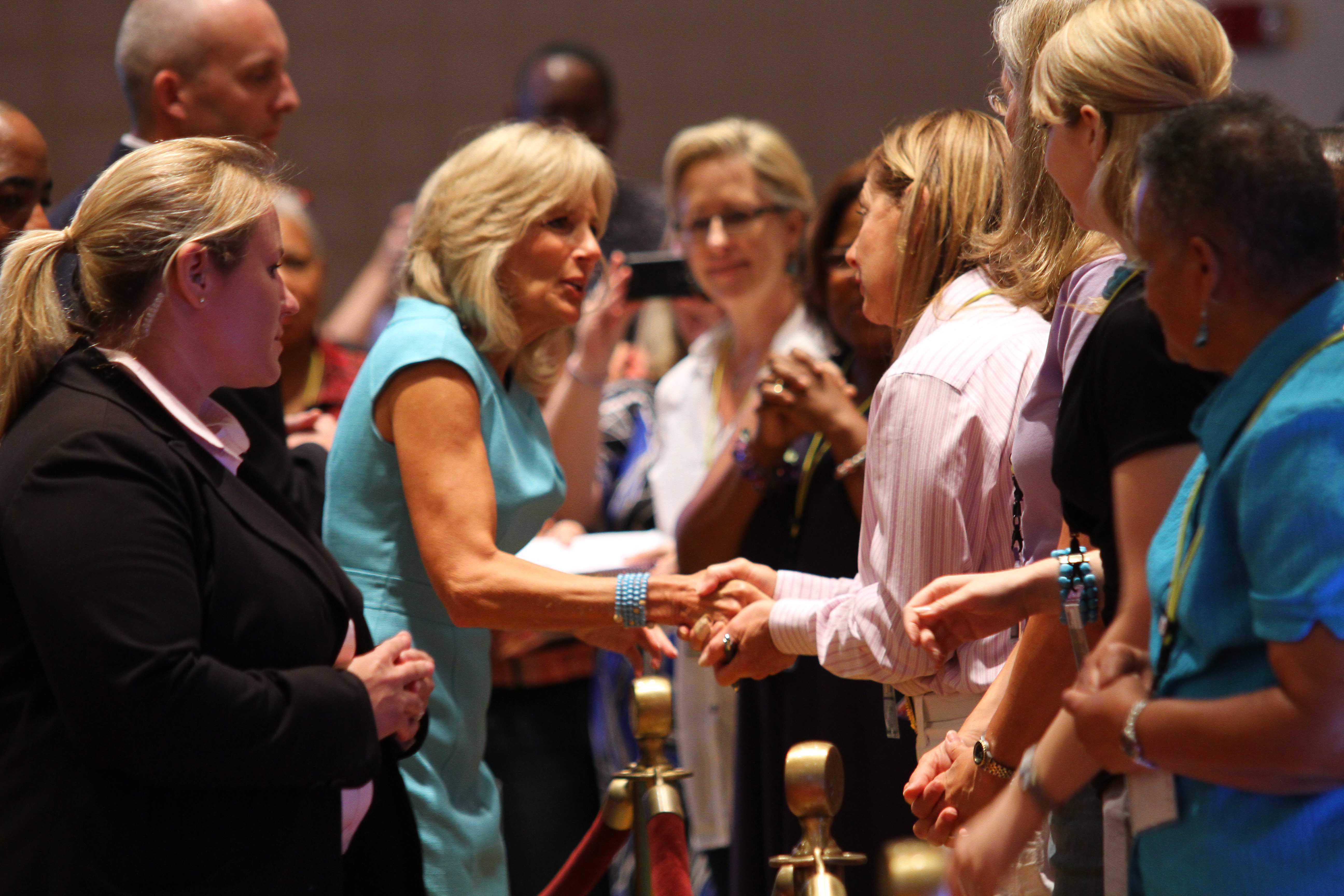 Dr. Biden at the National Association of Social Workers' conference