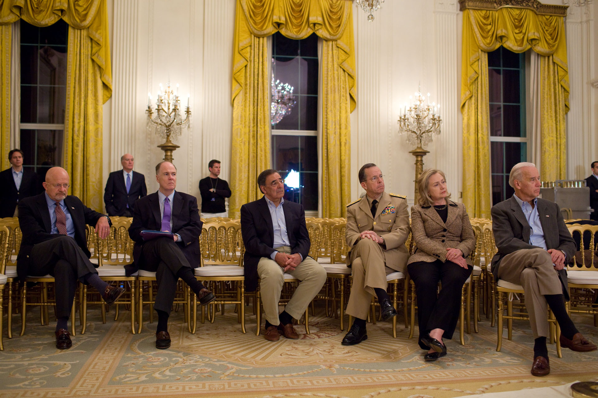The National Security Team Listens to President Obama's Statement on Osama bin Laden