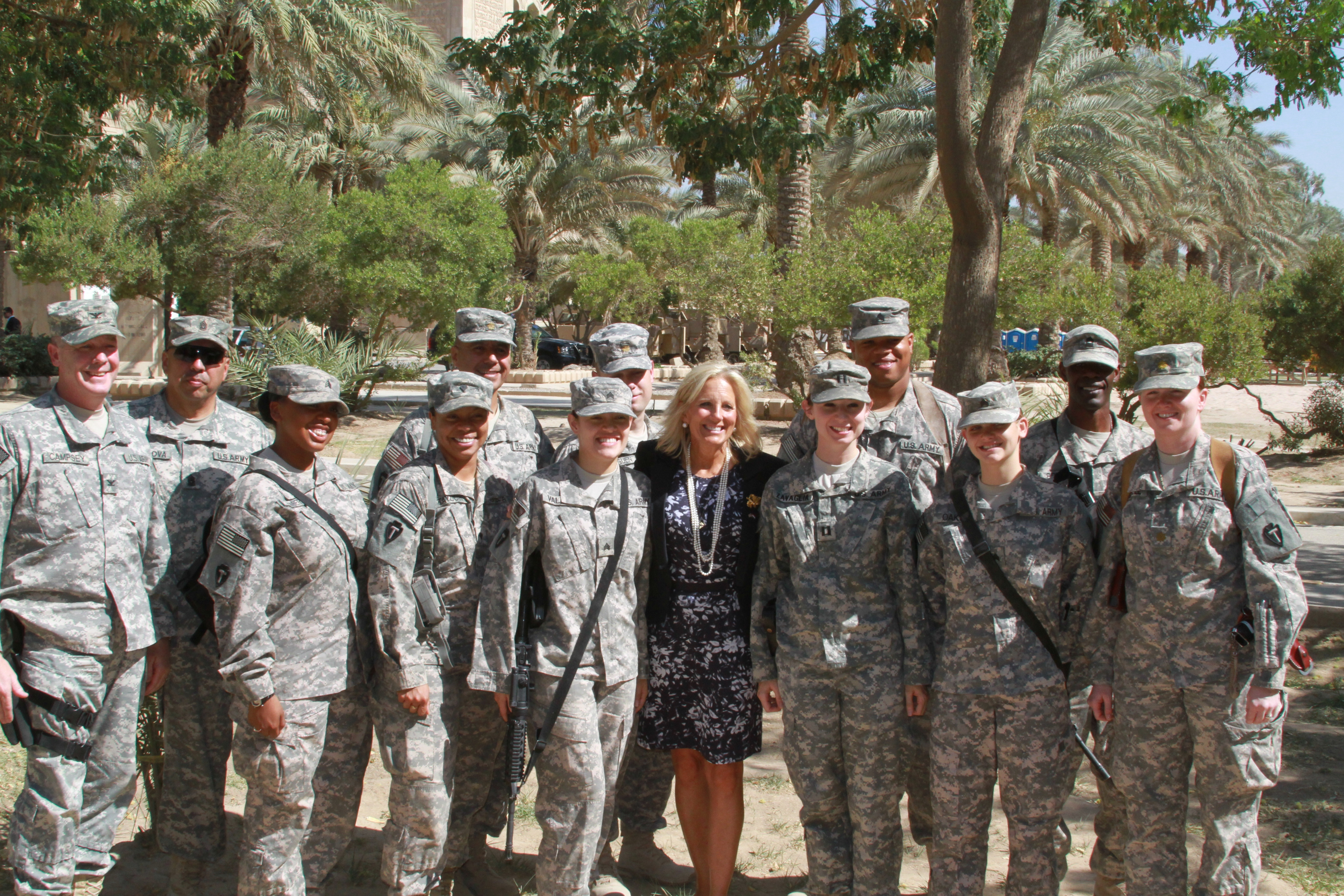 Dr. Jill Biden meets with servicemen and women