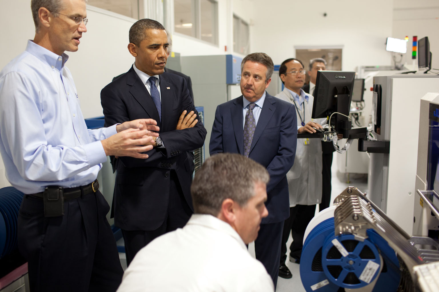 President Obama Tours Cree, Inc in Durham, N.C.