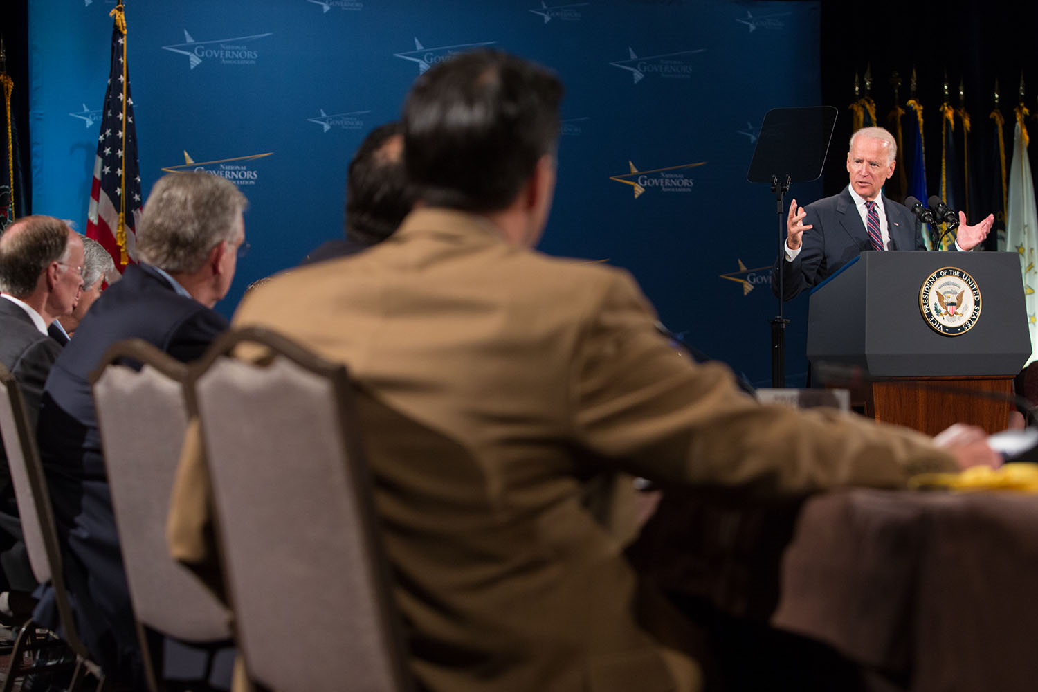 Vice President Biden speaks at the National Governors Association Meeting in Nashville, Tennessee, July 11, 2014.