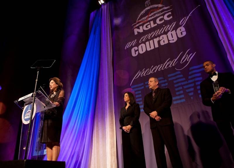 Hilda Solis at the National Gay and Lesbian Chamber of Commerce's Annual Dinner