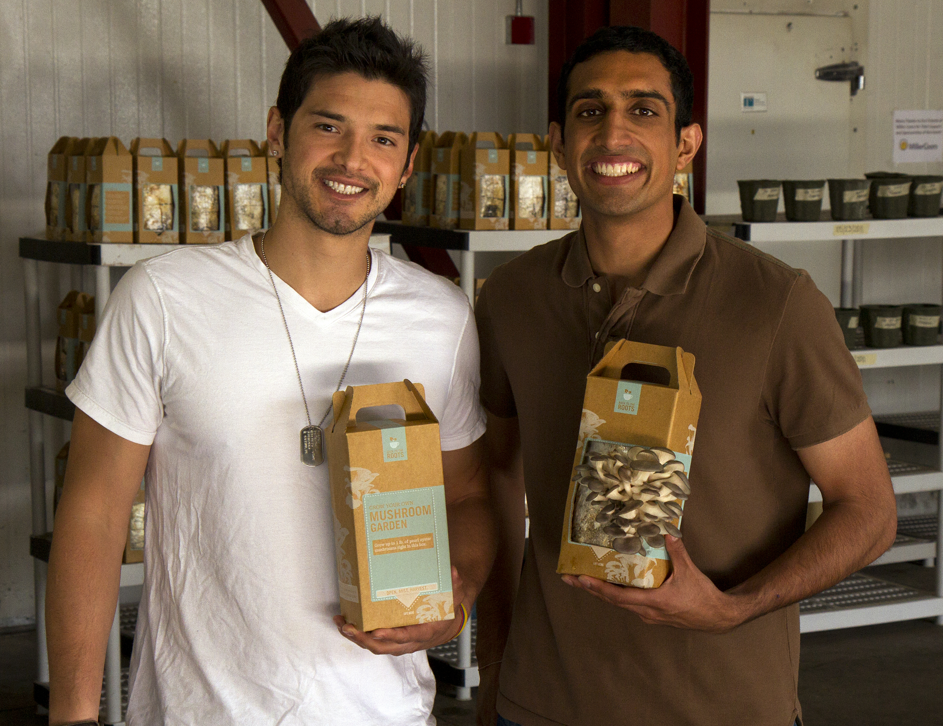 Nikhil Arora and Alejandro Velez, Founders of Back to the Roots
