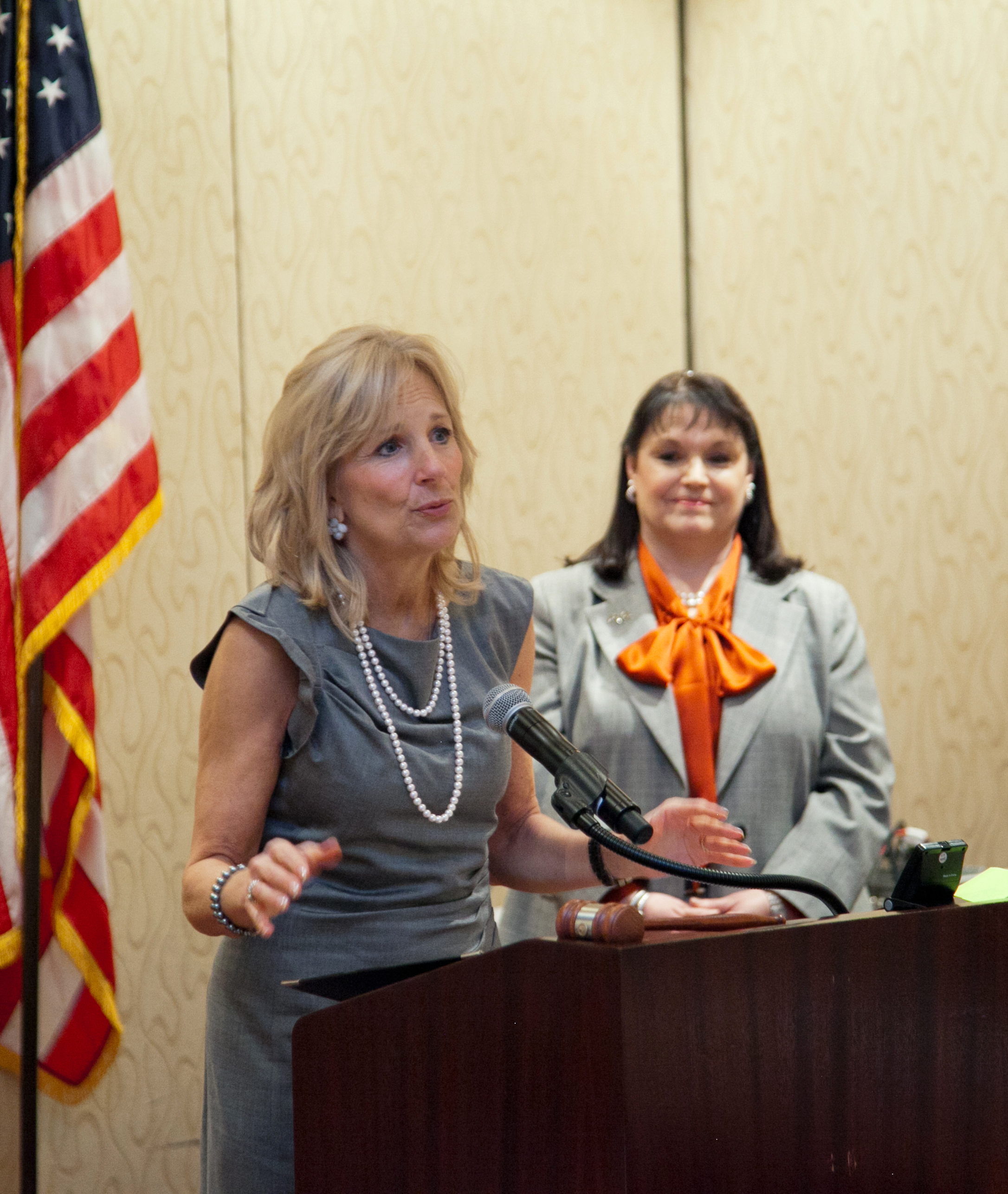 Dr. Jill Biden addresses the National PTA