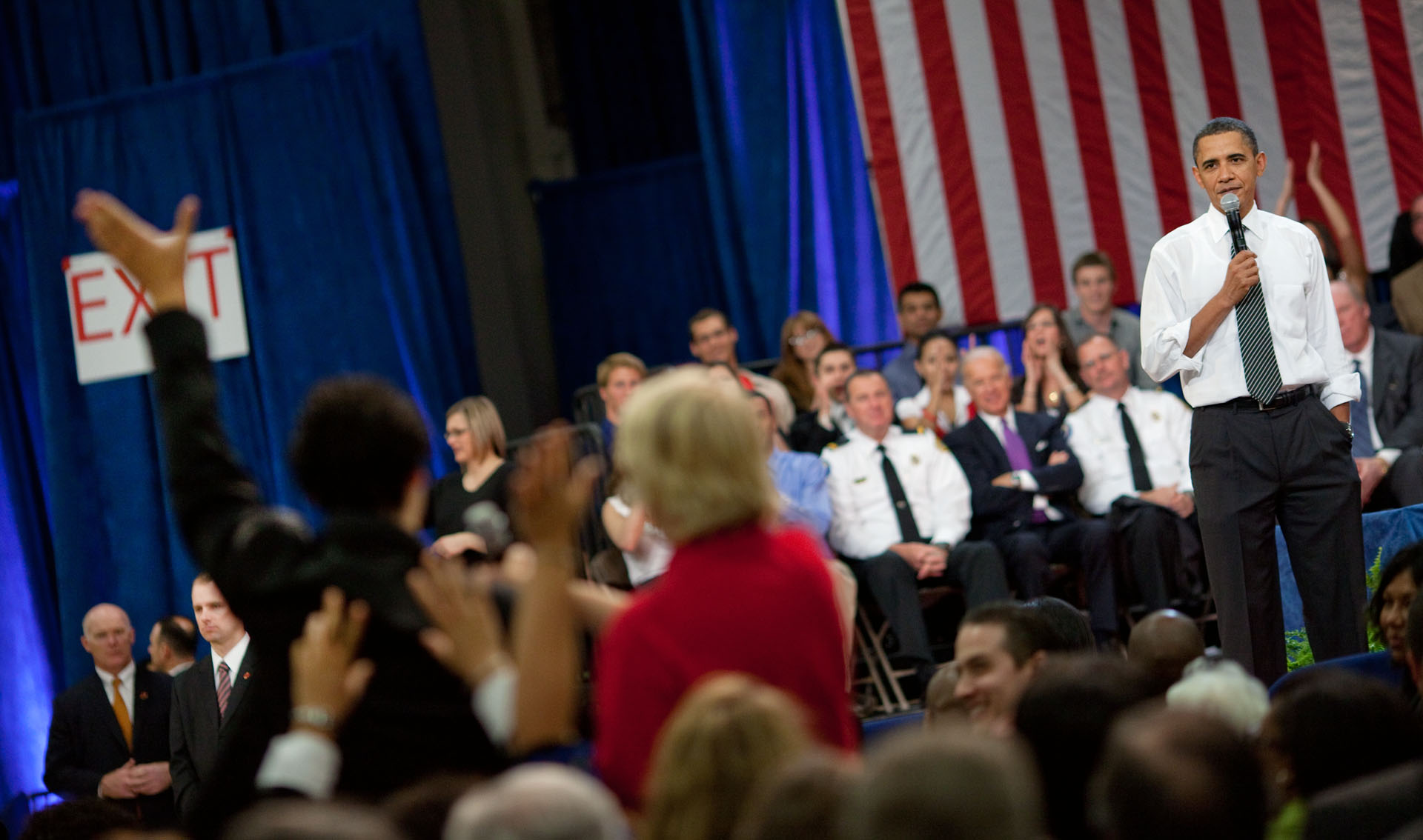 The President Speaks at a Town Hall in Tampa, Florida