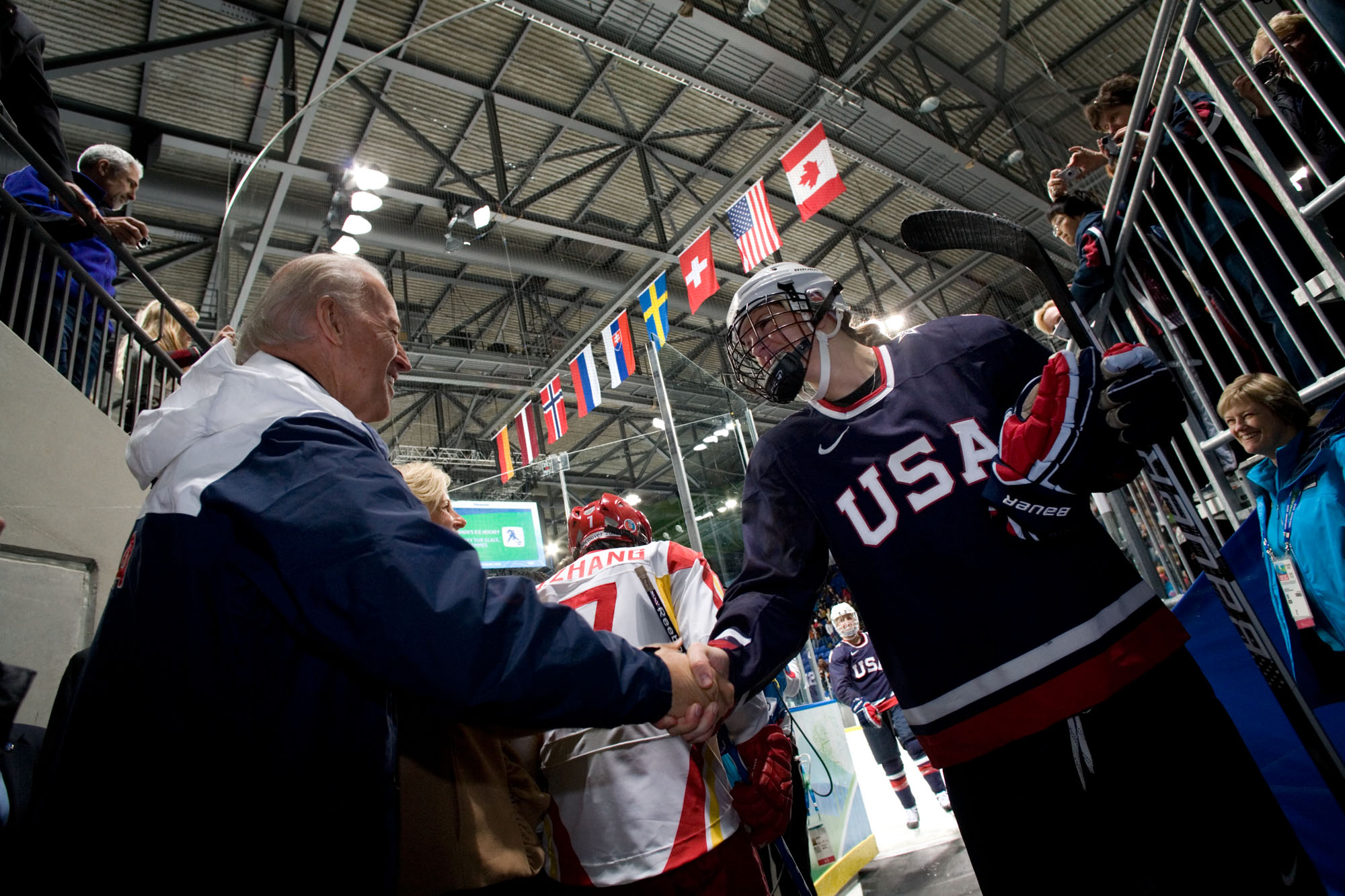 Vice President Biden Congratulates the Olympic Womens Hockey Team