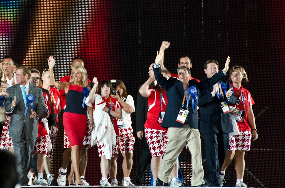 Dr. Biden at the Opening Ceremonies of the 2011 Special Olympics
