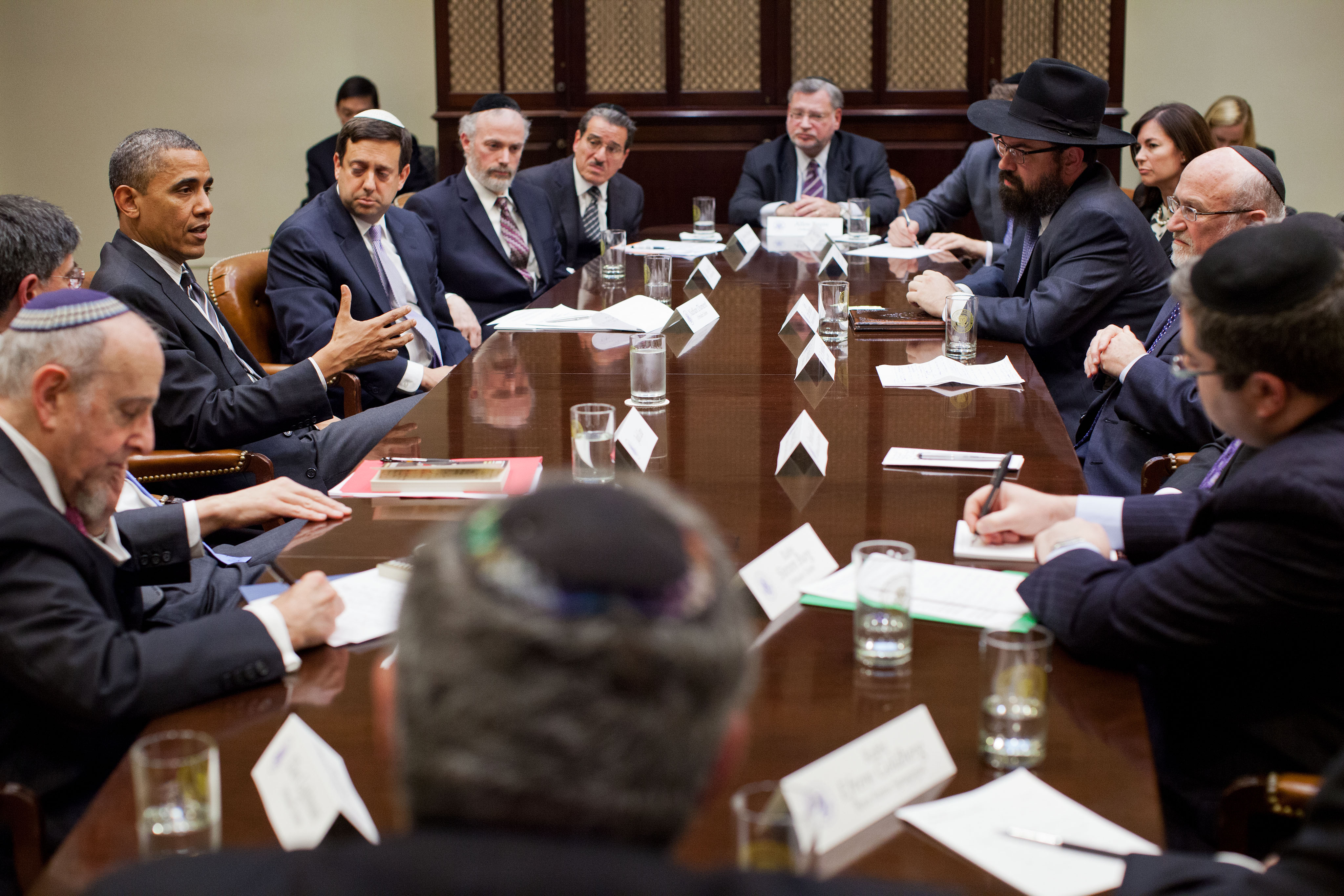 President Barack Obama with Orthodox Jewish leaders