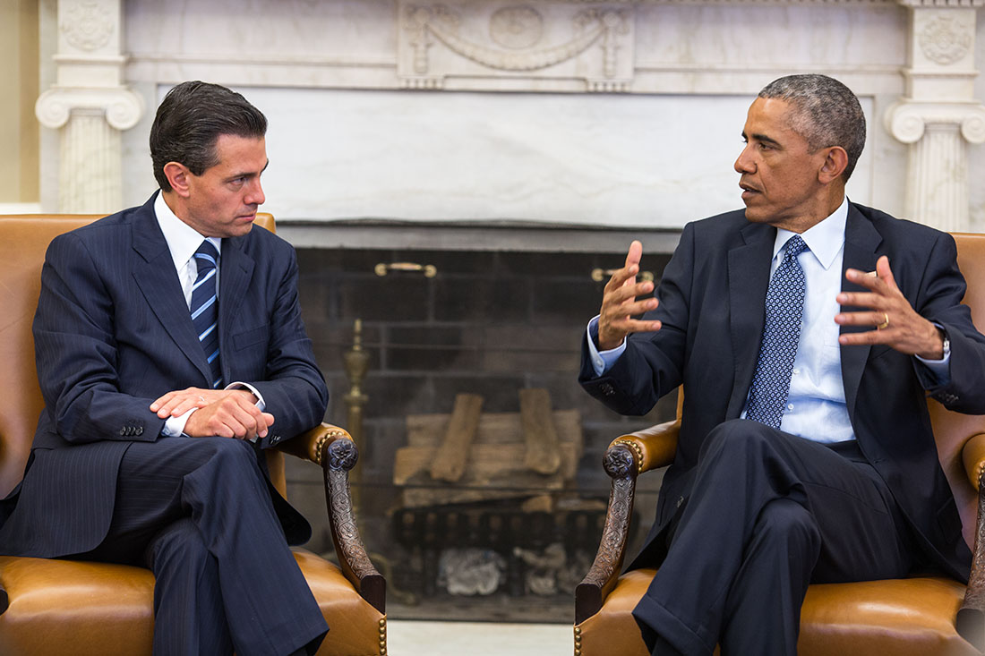 President Obama meets with President Enrique Peña Nieto of Mexico
