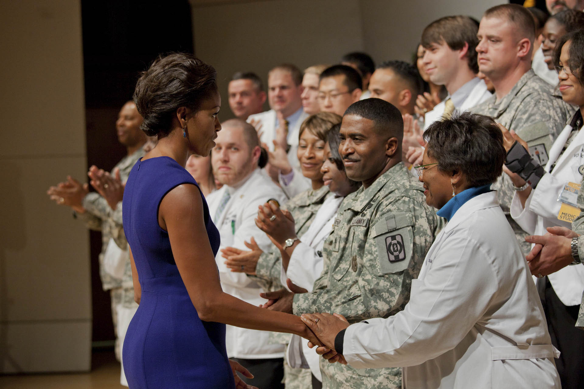 Michelle Obama at Virginia Commonwealth University AAMC-Medical Center