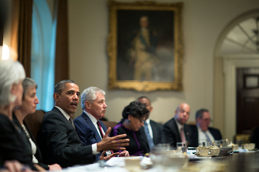President Obama Holds the First Cabinet Meeting of 2014 ...