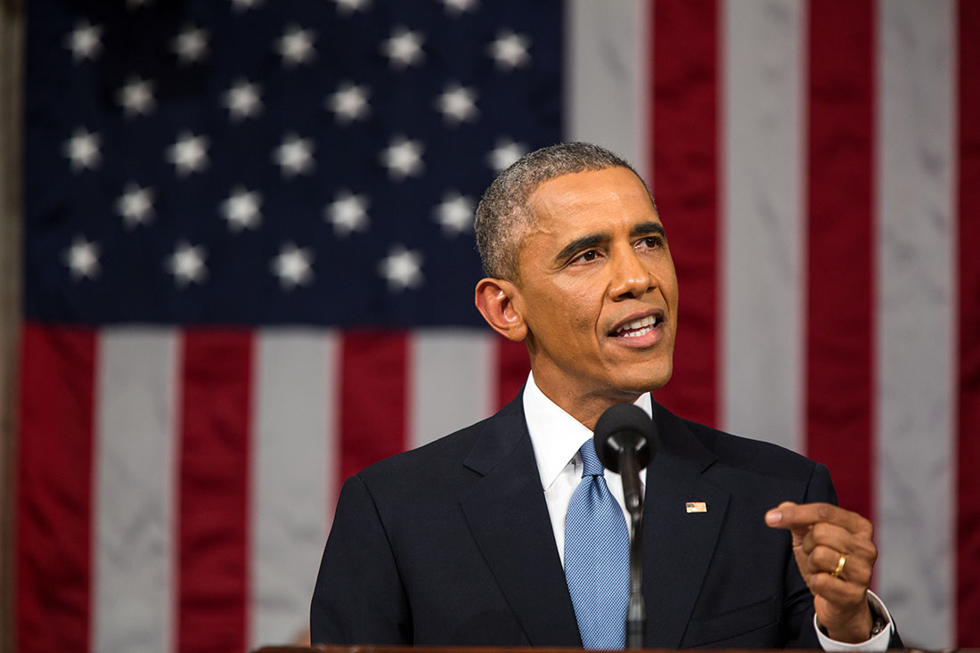 President Obama delivers the State of the Union address, Jan. 20, 2015.