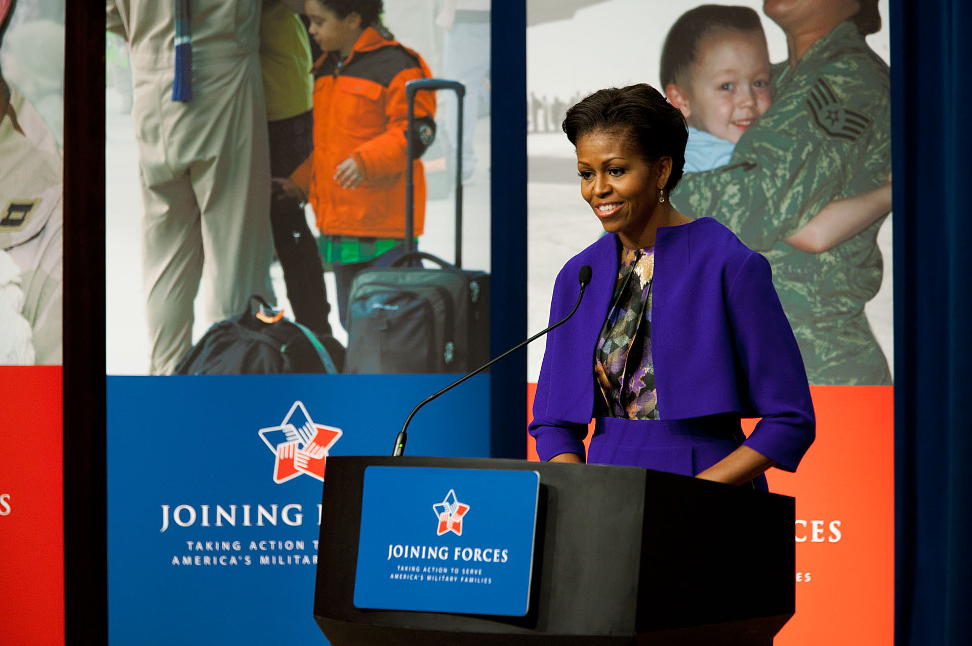 First Lady Michelle Obama announces new FMLA rules proposed to help caregivers of service members and veterans