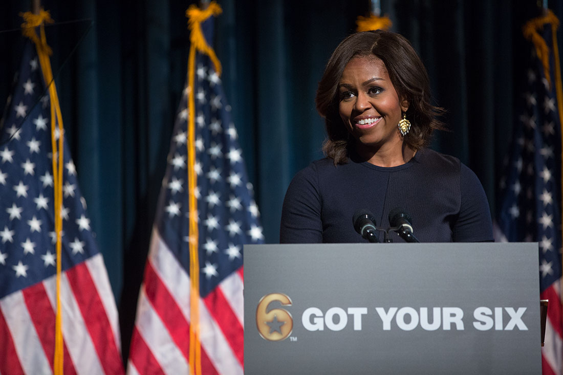 First Lady Michelle Obama Delivers Remarks at Got Your 6 event