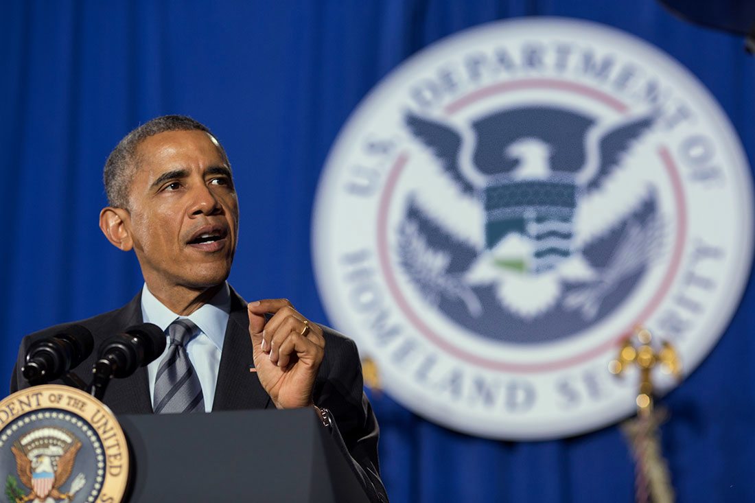 President Obama delivers remarks on the FY 2016 budget at the Department of Homeland Security