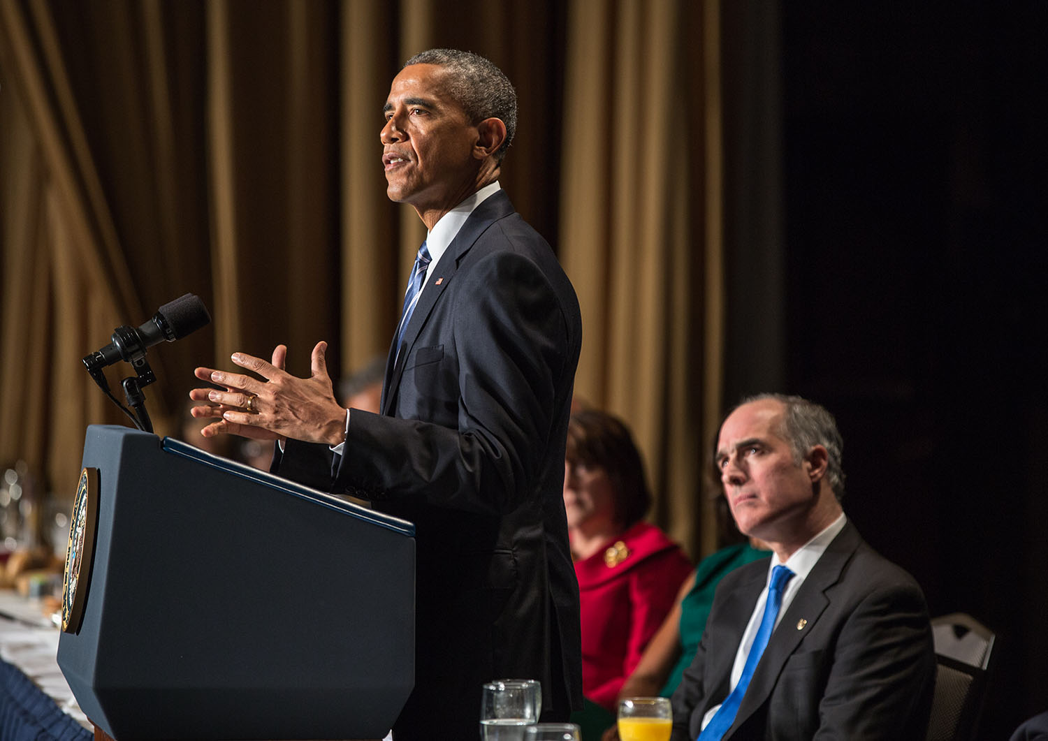 President Obama delivers remarks during the National Prayer Breakfast, Feb. 5, 2015