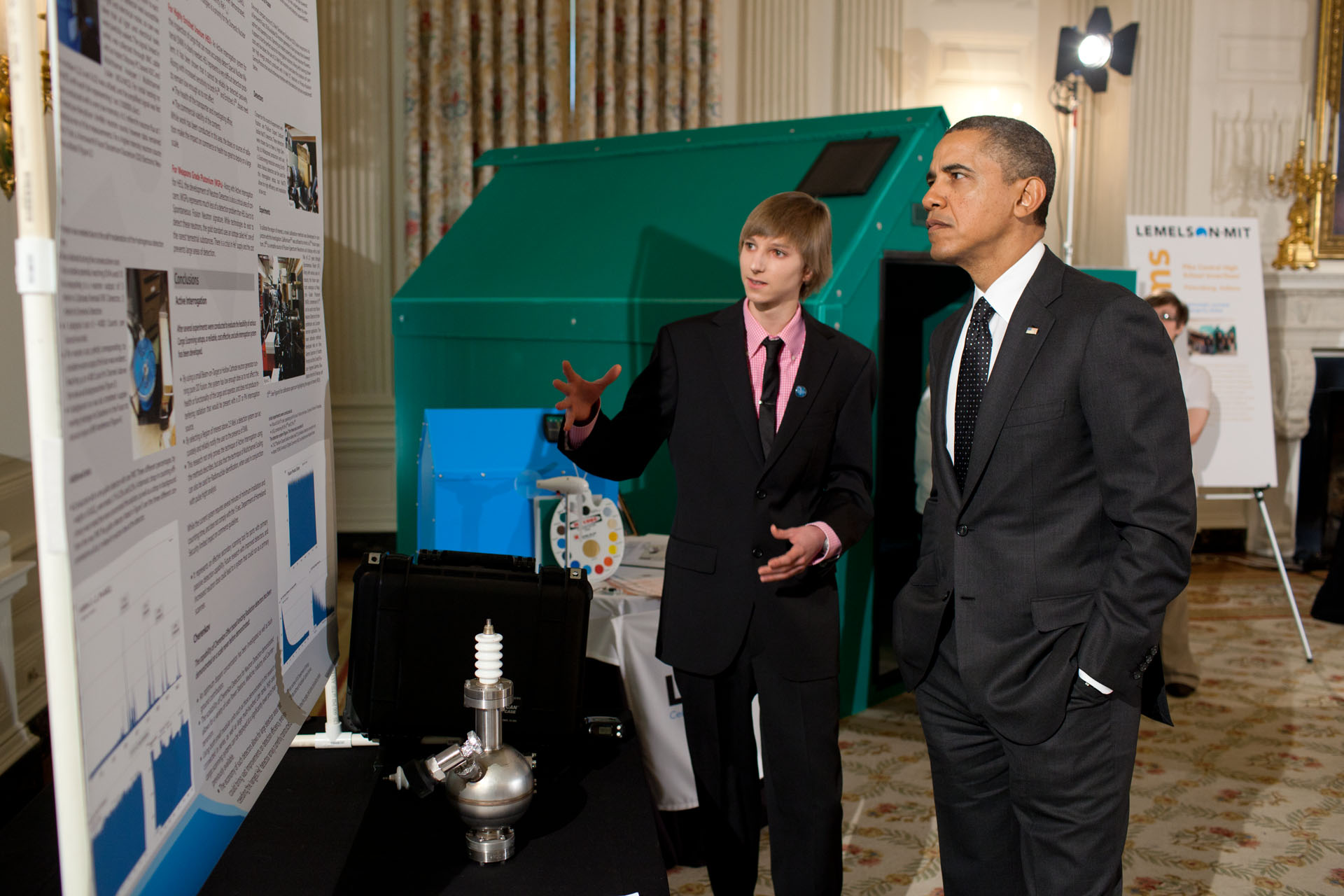 President Obama Speaks to Taylor Wilson