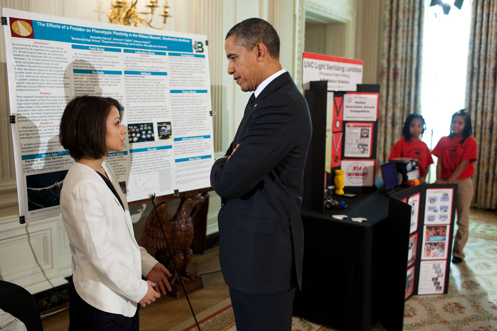 President Obama Speaks to Samantha Garvey